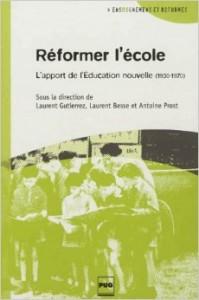 """Couverture du livre """"Réformer l'école"""""""