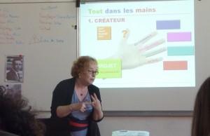 Lise Desroriers, lors de la formation